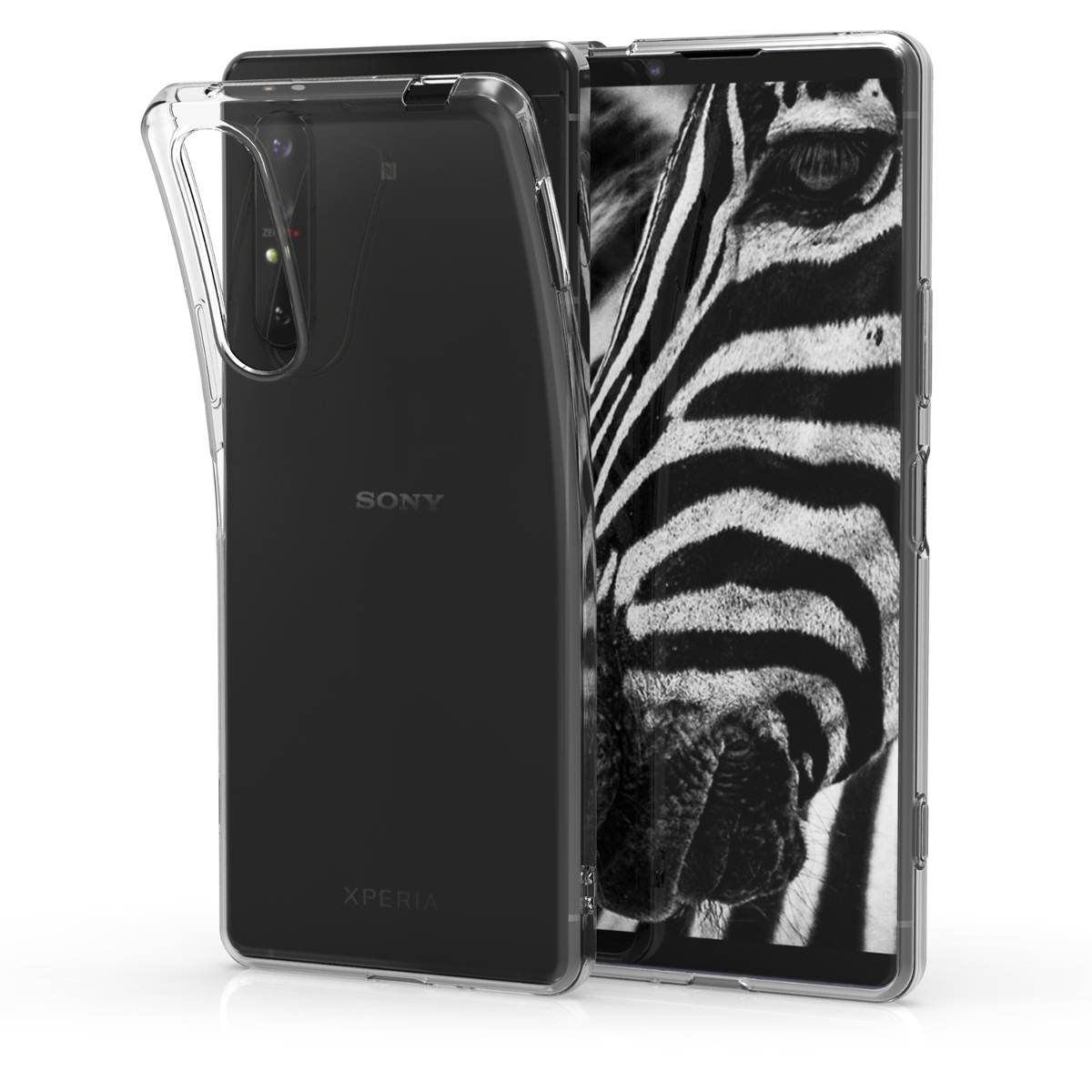 Kvalitní silikonové TPU pouzdro   obal pro Sony Xperia 1 II - průhledný
