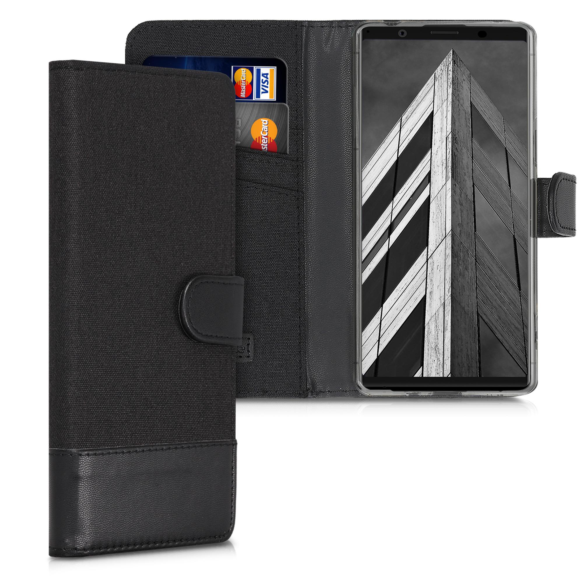Textilní látkové pouzdro   obal pro Sony Xperia 1 II - Anthracite / černé