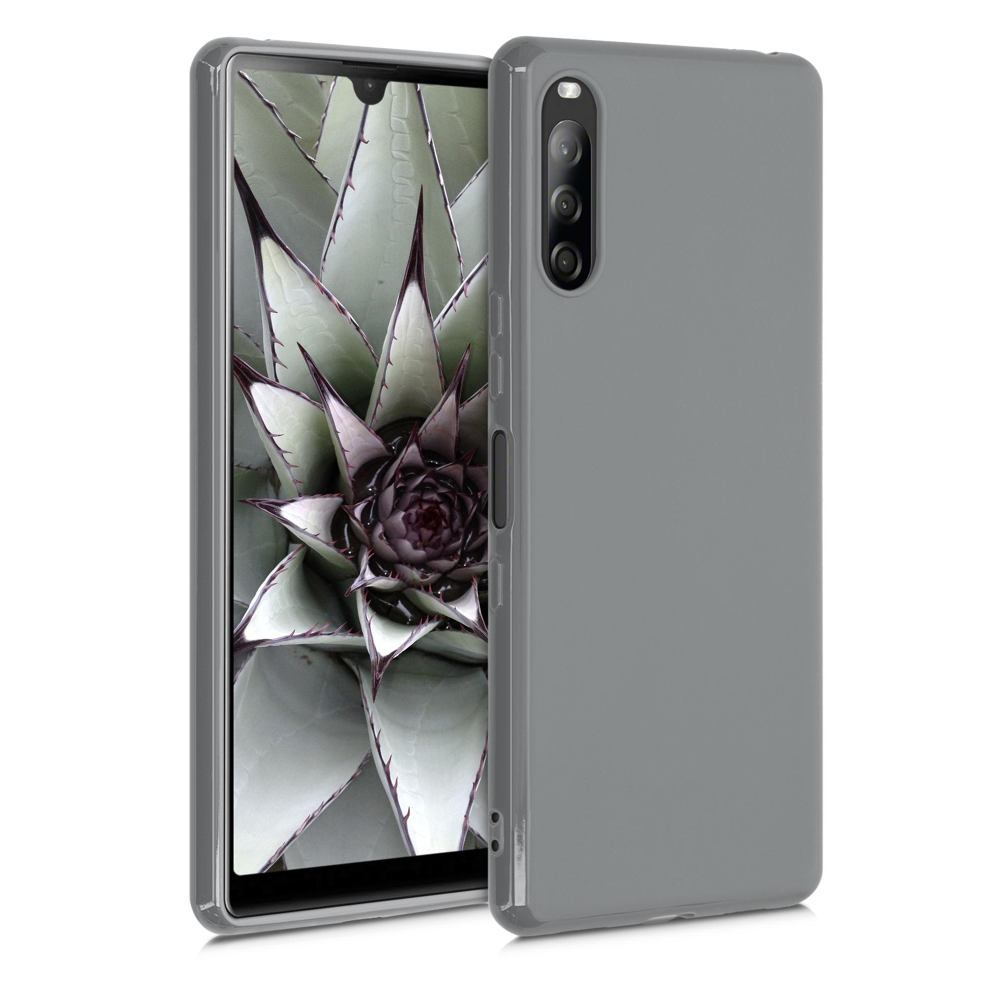 Kvalitní silikonové TPU pouzdro | obal pro Sony Xperia L4 - titanově šedé