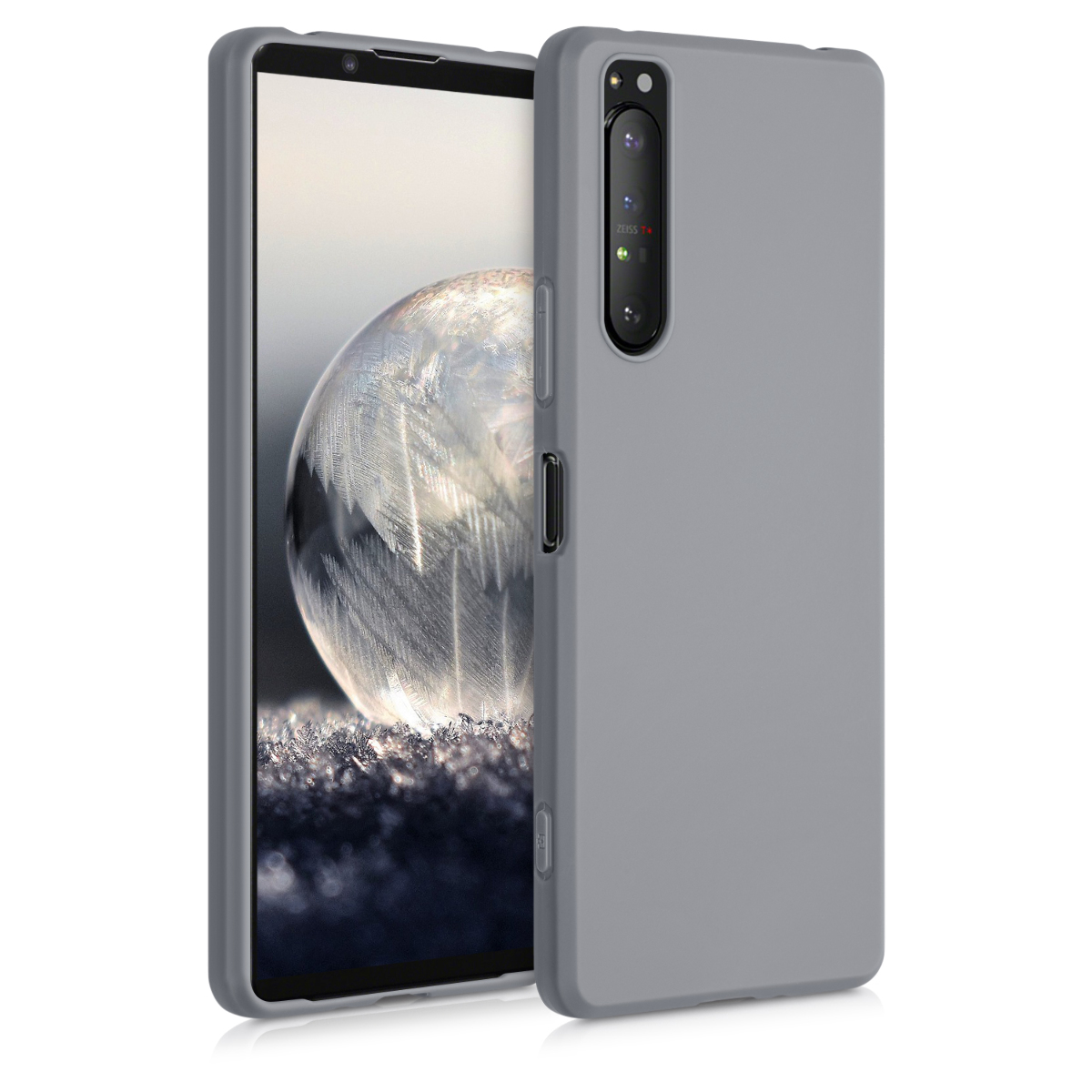 Kvalitní silikonové TPU pouzdro   obal pro Sony Xperia 1 II - titanově šedé