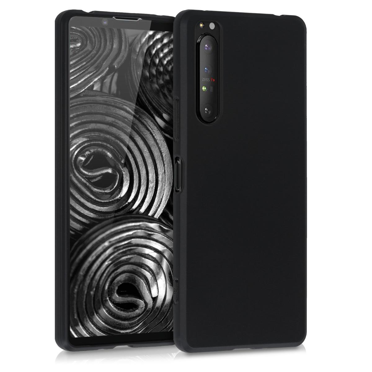 Kvalitní silikonové TPU pouzdro   obal pro Sony Xperia 1 II - černé matné