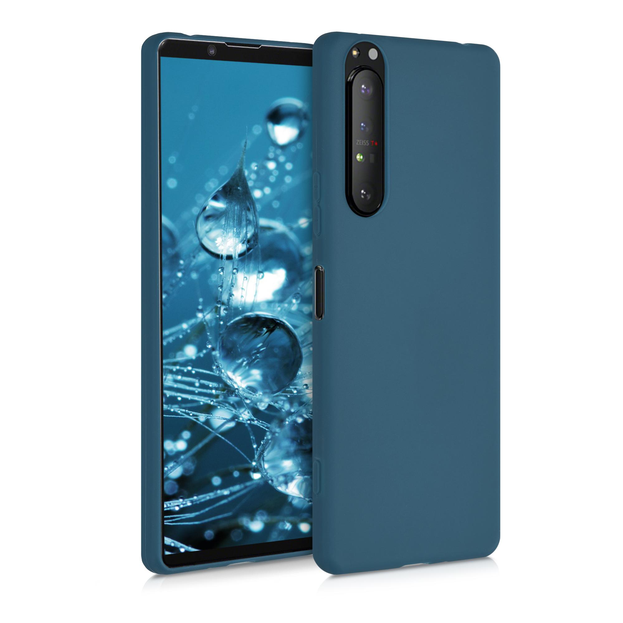 AKCE! Kvalitní silikonové TPU pouzdro | obal pro Sony Xperia 1 II - tmavě modré