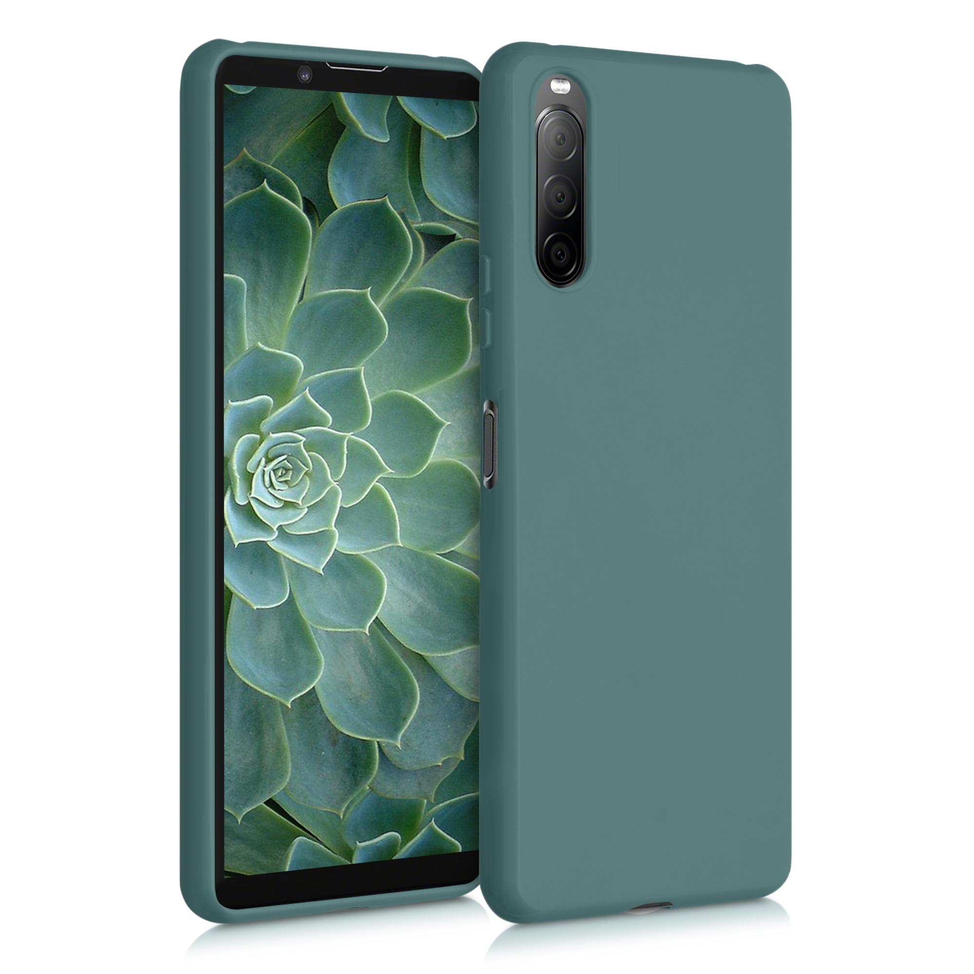 Kvalitní silikonové TPU pouzdro | obal pro Sony Xperia 10 II - modré zelené