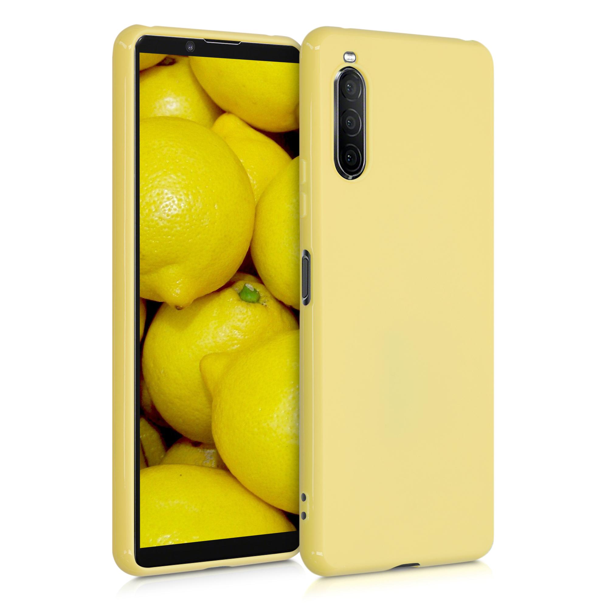 Kvalitní silikonové TPU pouzdro | obal pro Sony Xperia 10 II - žluté matné