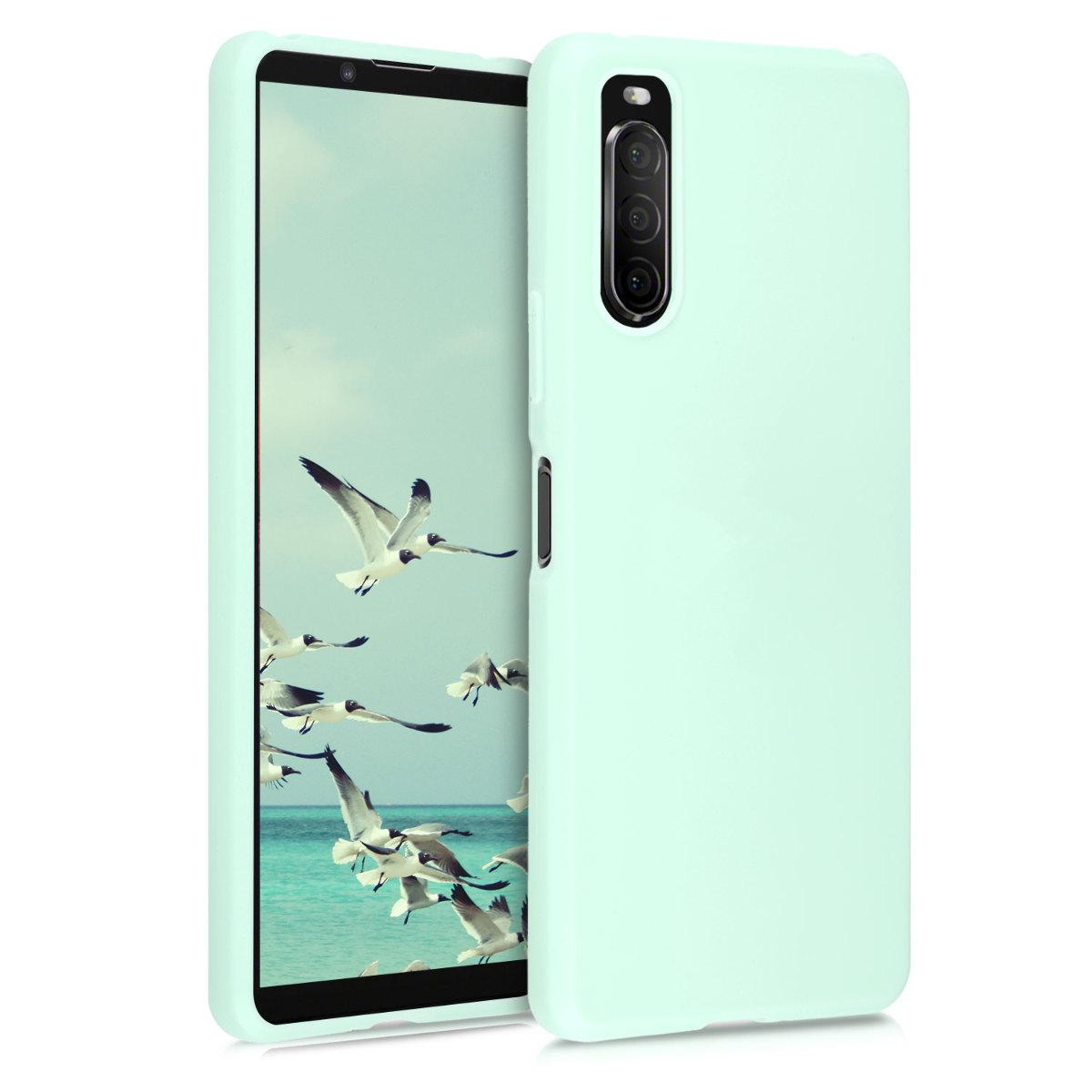 Kvalitní silikonové TPU pouzdro | obal pro Sony Xperia 10 II - mint zelené matné