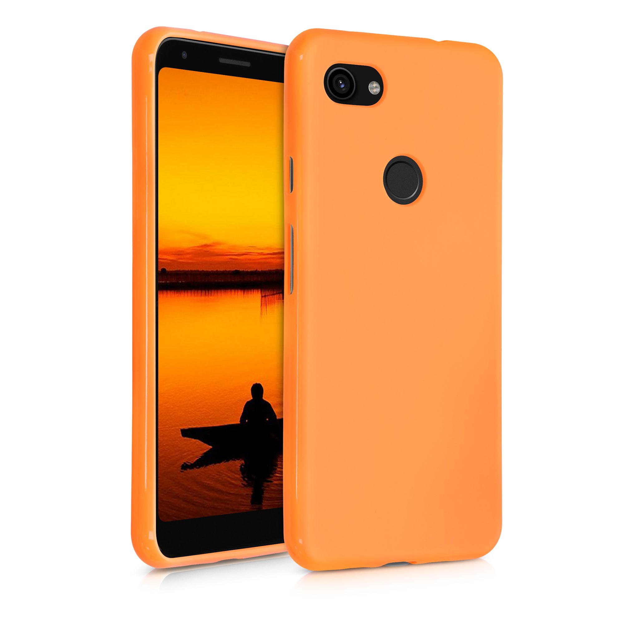 Kvalitní silikonové TPU pouzdro | obal pro Google Pixel 3a XL - Kosmická oranžová