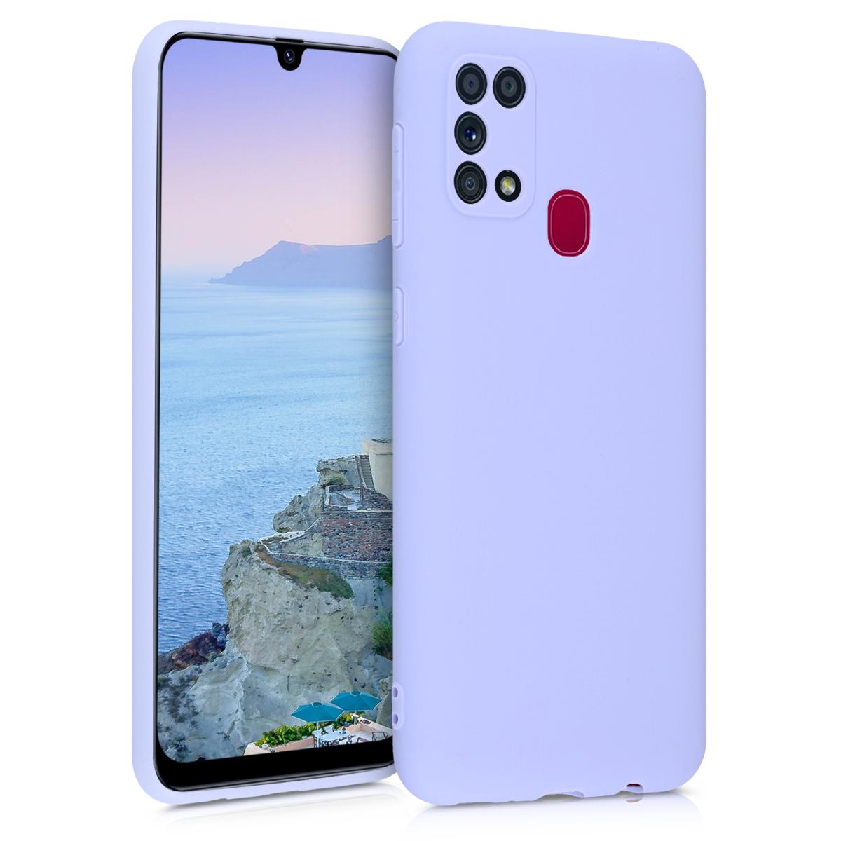 Kvalitní silikonové TPU pouzdro pro Samsung M31 - Light Lavender
