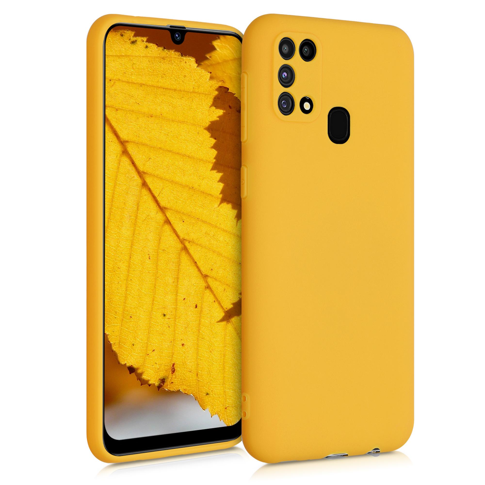 Kvalitní silikonové TPU pouzdro pro Samsung M31 - Honey Yellow