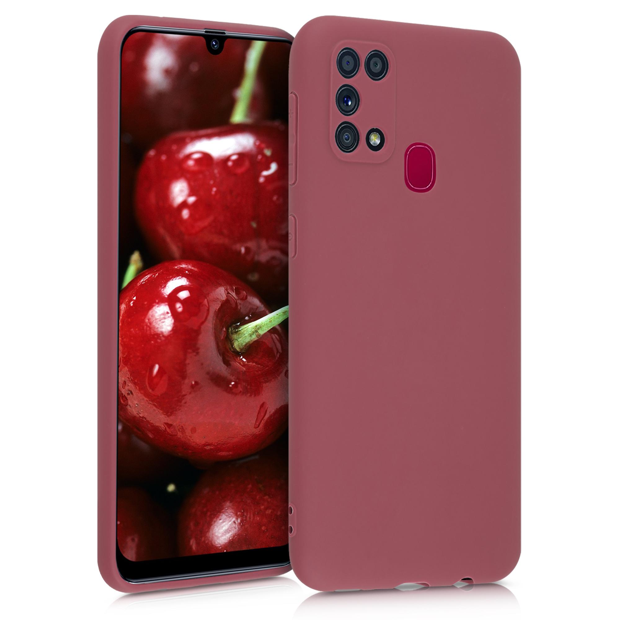 Kvalitní silikonové TPU pouzdro pro Samsung M31 - Maroon červené