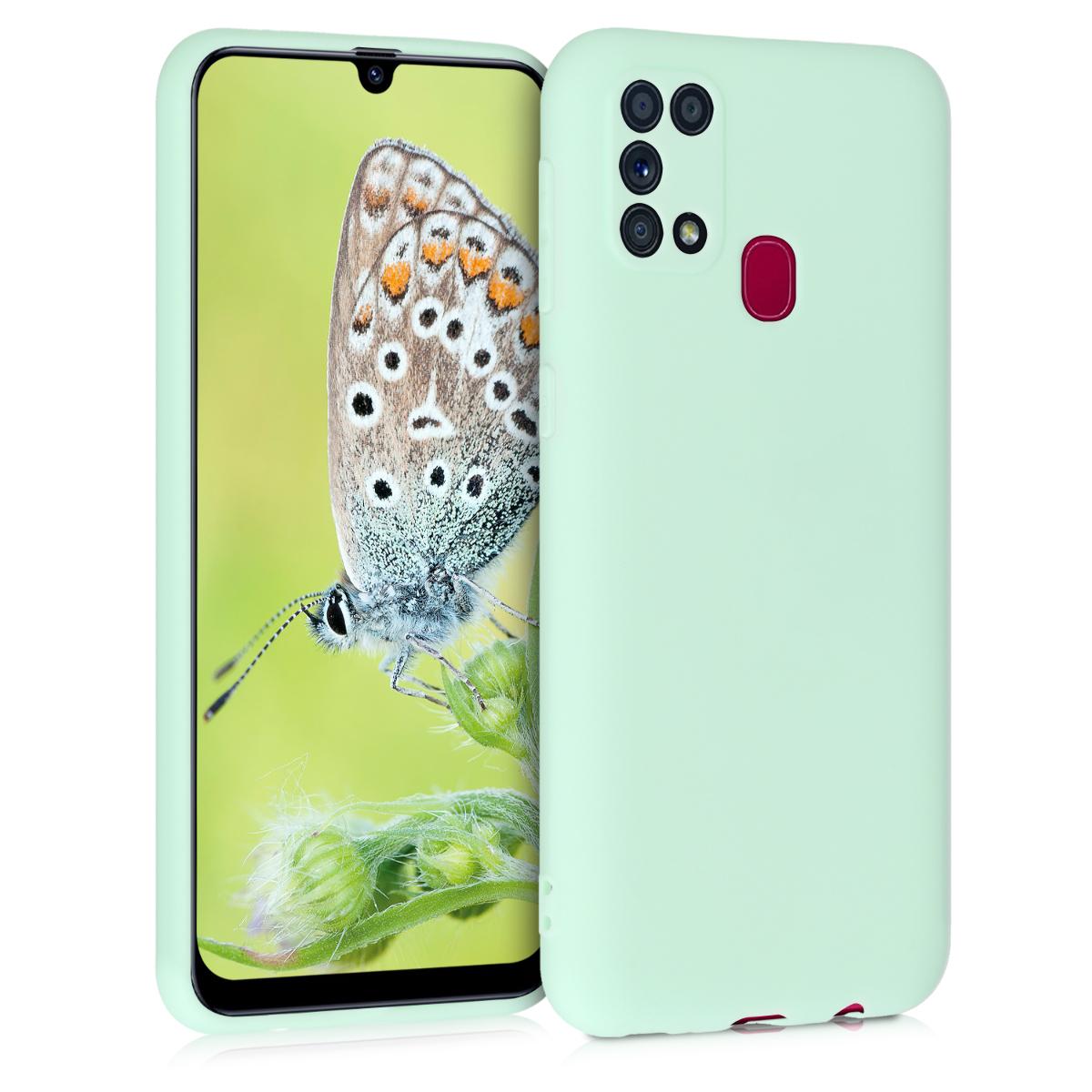 Kvalitní silikonové TPU pouzdro pro Samsung M31 - mint zelené matné