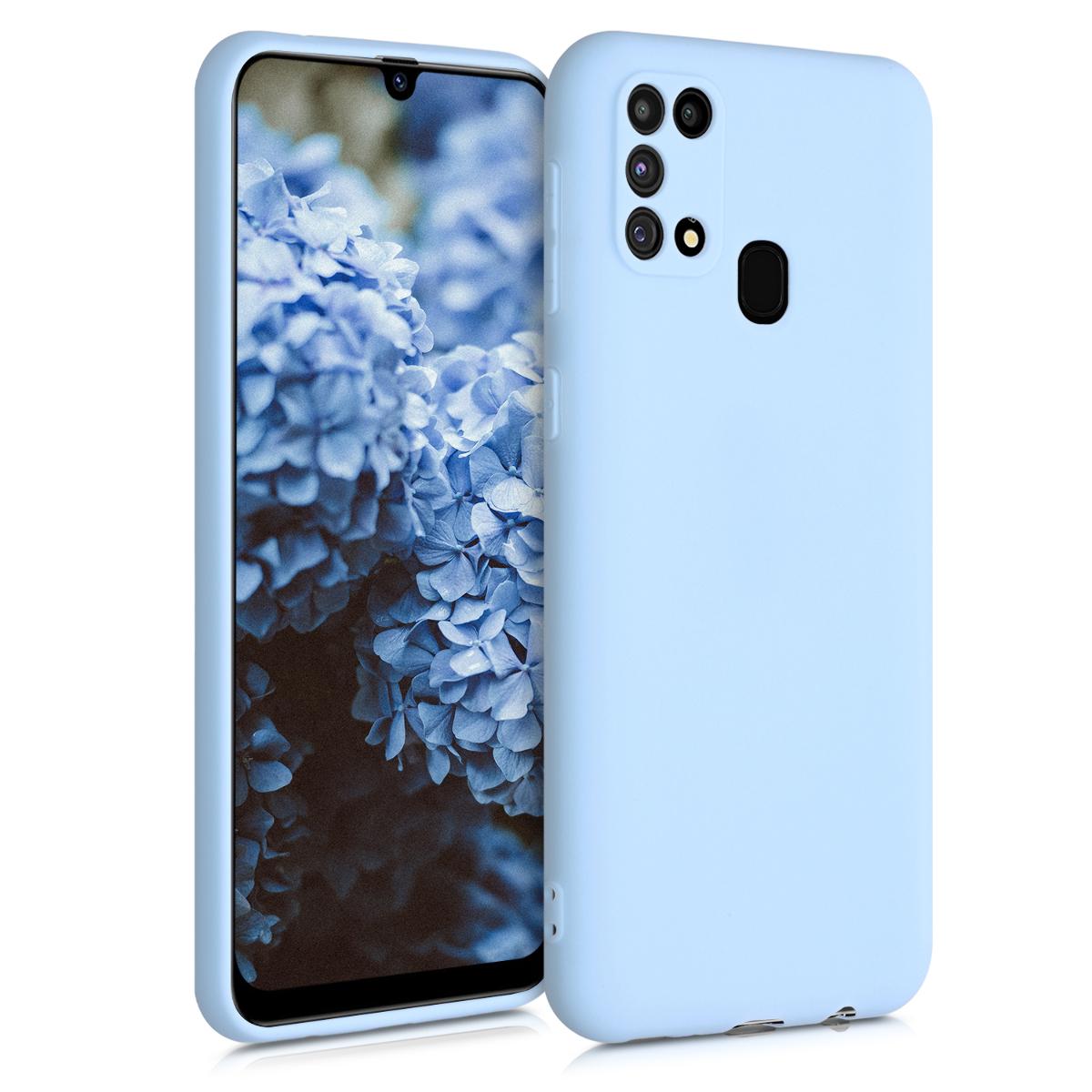 Kvalitní silikonové TPU pouzdro pro Samsung M31 - Light Blue Matte