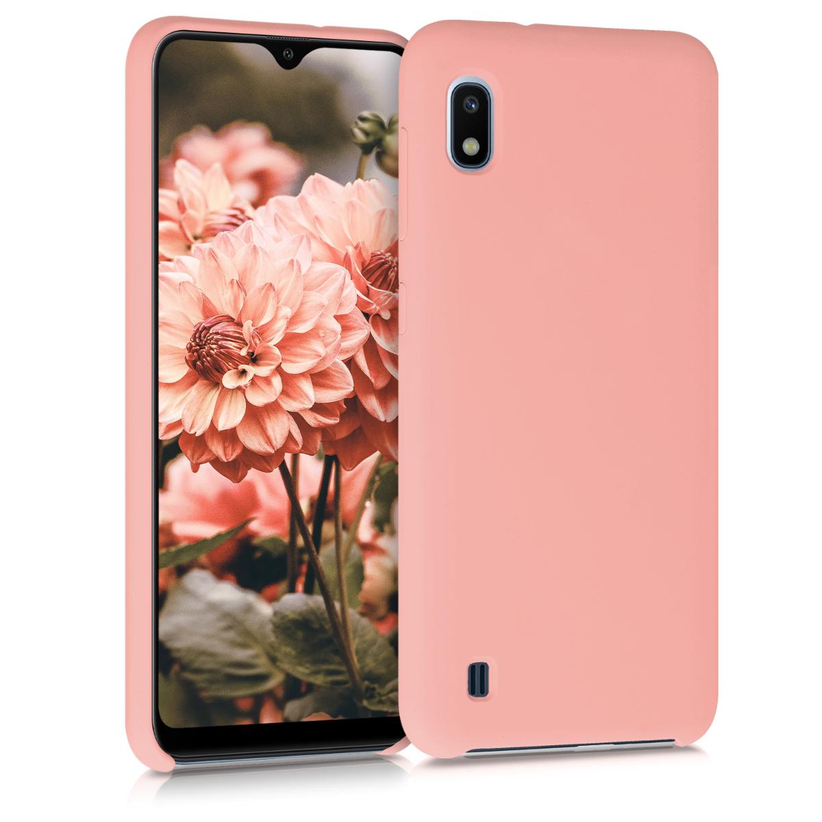 Kvalitní silikonové TPU pouzdro pro Samsung A10 - světle růžové matné