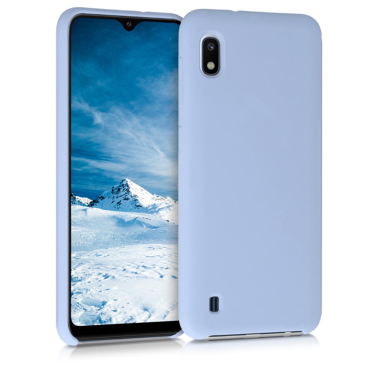 Kvalitní silikonové TPU pouzdro pro Samsung A10 - světle  modré matné