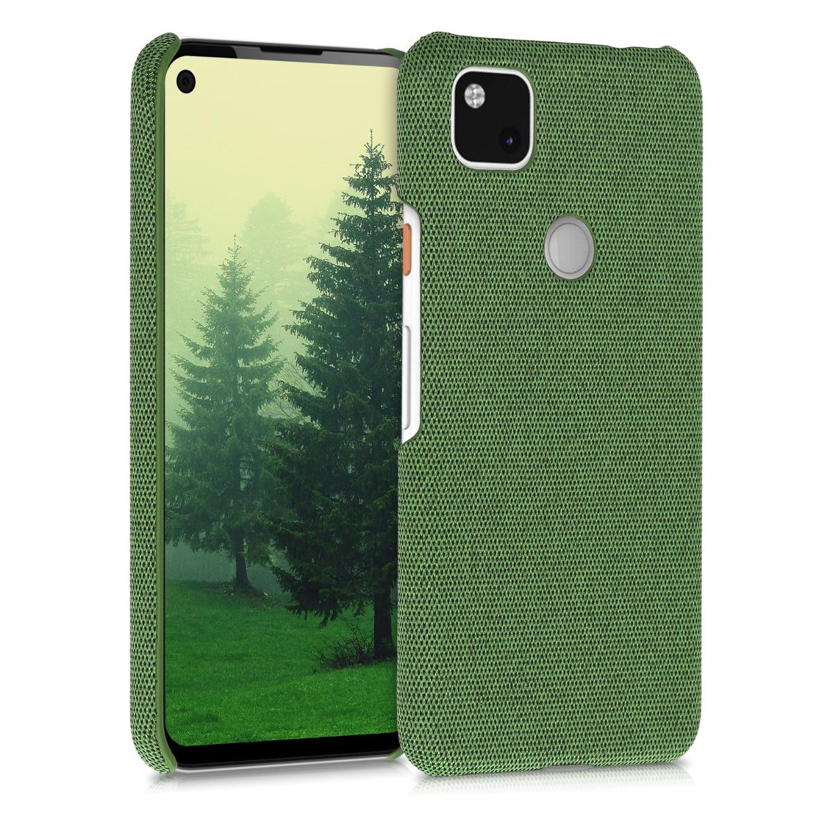 Textilní látkové pouzdro | obal pro Google Pixel 4a - Zelená