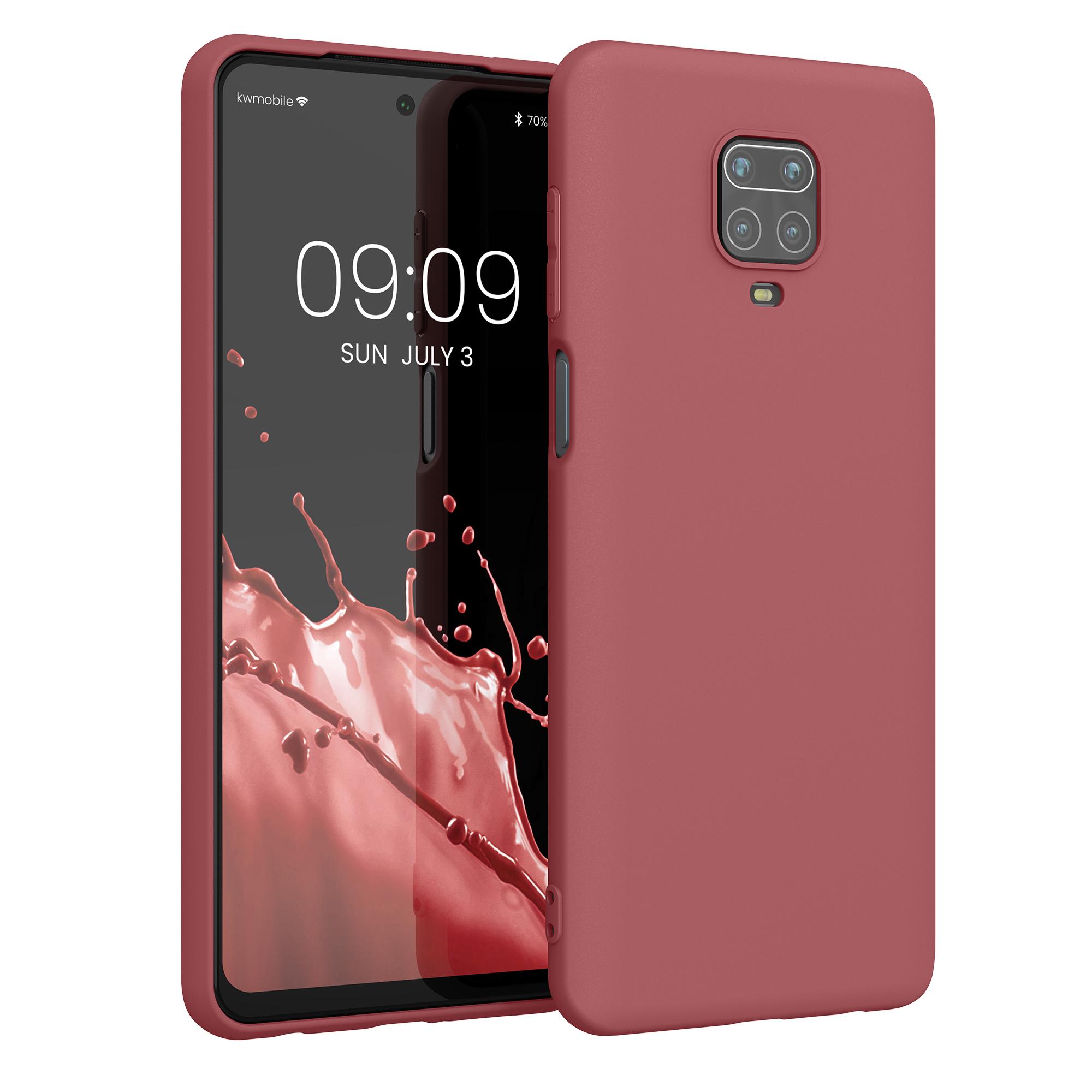 Kvalitní silikonové TPU pouzdro | obal pro Xiaomi Redmi Note 9S | 9 Pro | 9 - Maroon červený