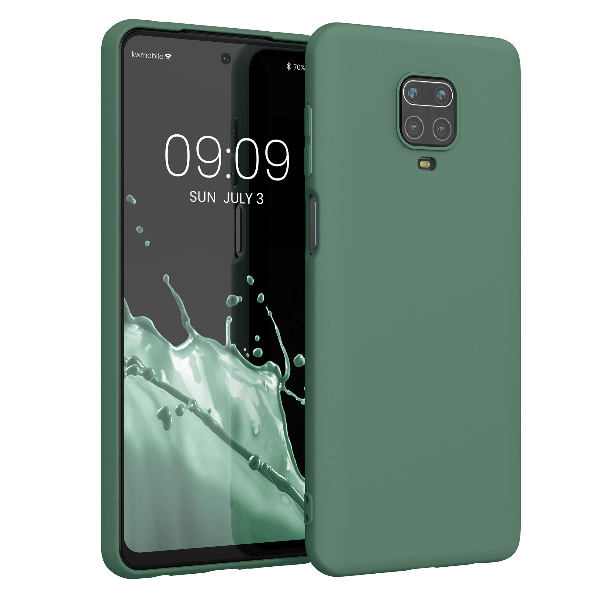 Kvalitní silikonové TPU pouzdro | obal pro Xiaomi Redmi Note 9S | 9 Pro | 9 - lesní zelený
