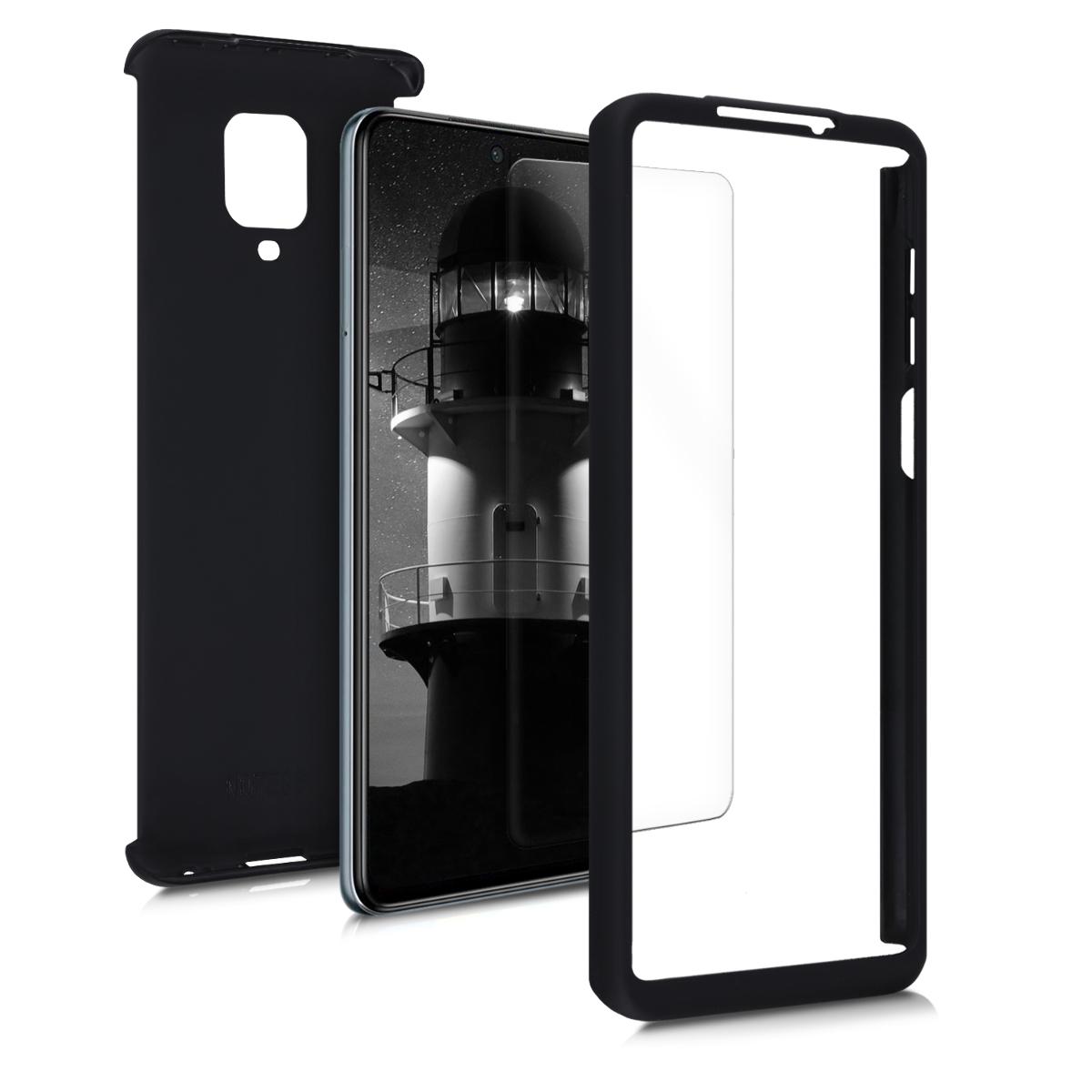 Kvalitní plastové pouzdro | obal pro Xiaomi Redmi Note 9S | 9 Pro | 9 - metalické černý