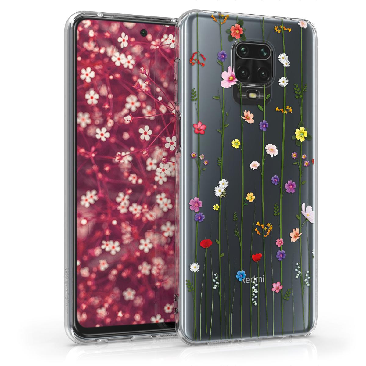 Kvalitní silikonové TPU pouzdro | obal pro Xiaomi Redmi Note 9S | 9 Pro | 9 - Wildkvětina Vines Multicolor / transparentní