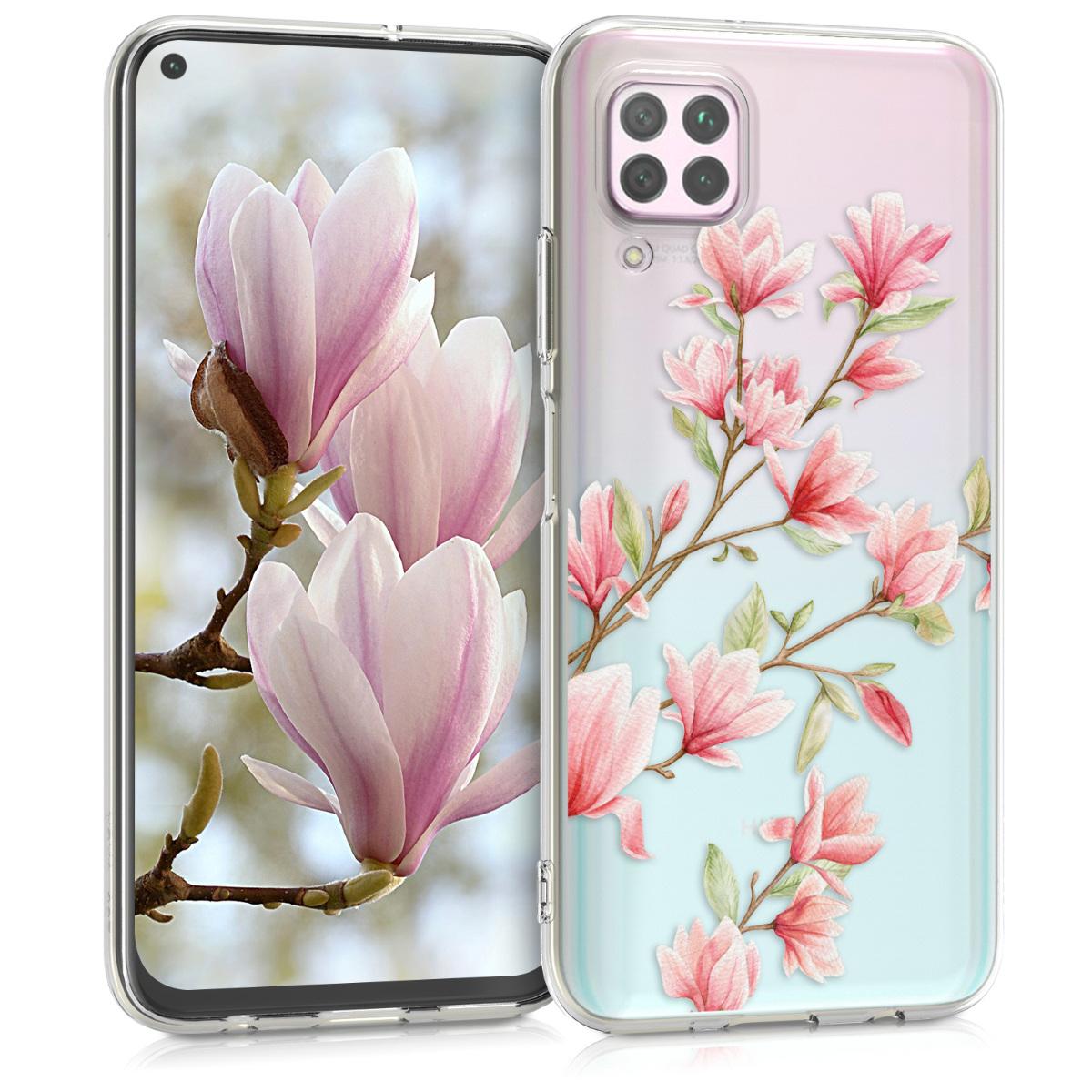 Silikonové pouzdro / obal pro Huawei P40 Lite s motivem květů magnolie