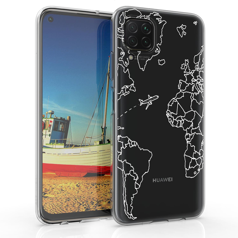 Silikonové pouzdro / obal pro Huawei P40 Lite s motivem mapy světa