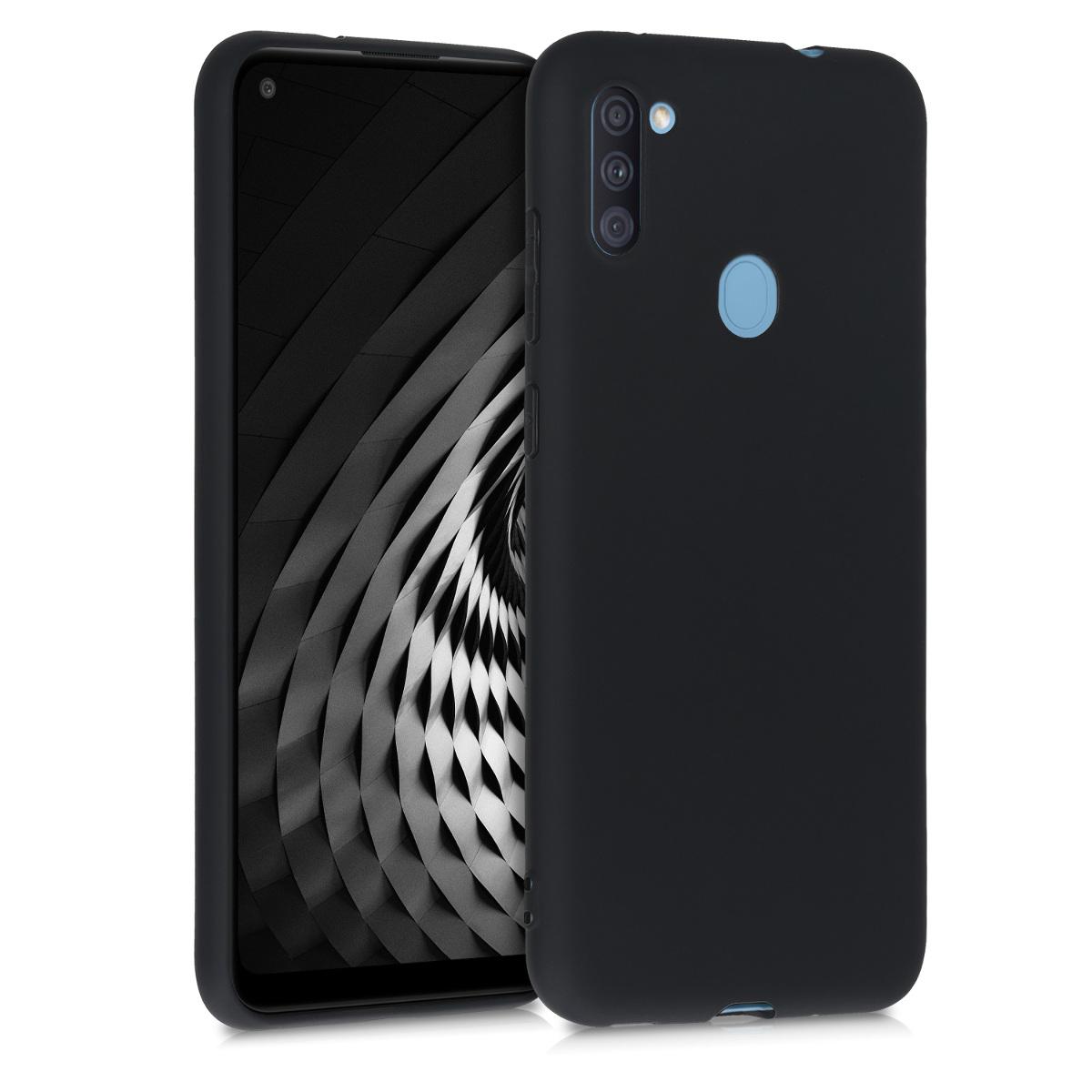 Kvalitní silikonové TPU pouzdro pro Samsung A11 - černé matné