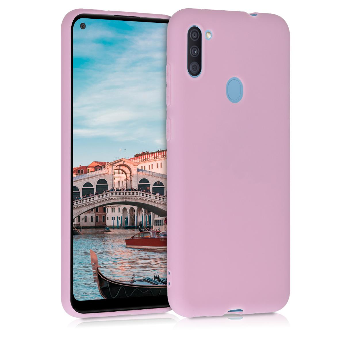 Kvalitní silikonové TPU pouzdro pro Samsung A11 - Antique Pink Matte