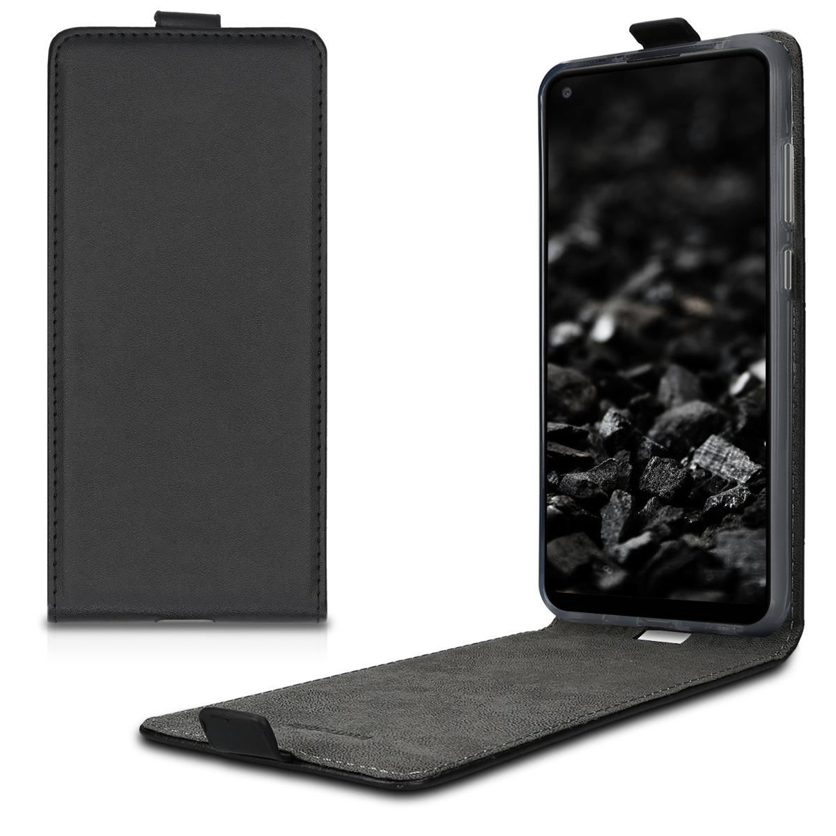 Kožené pouzdro pro Samsung A11 - černé