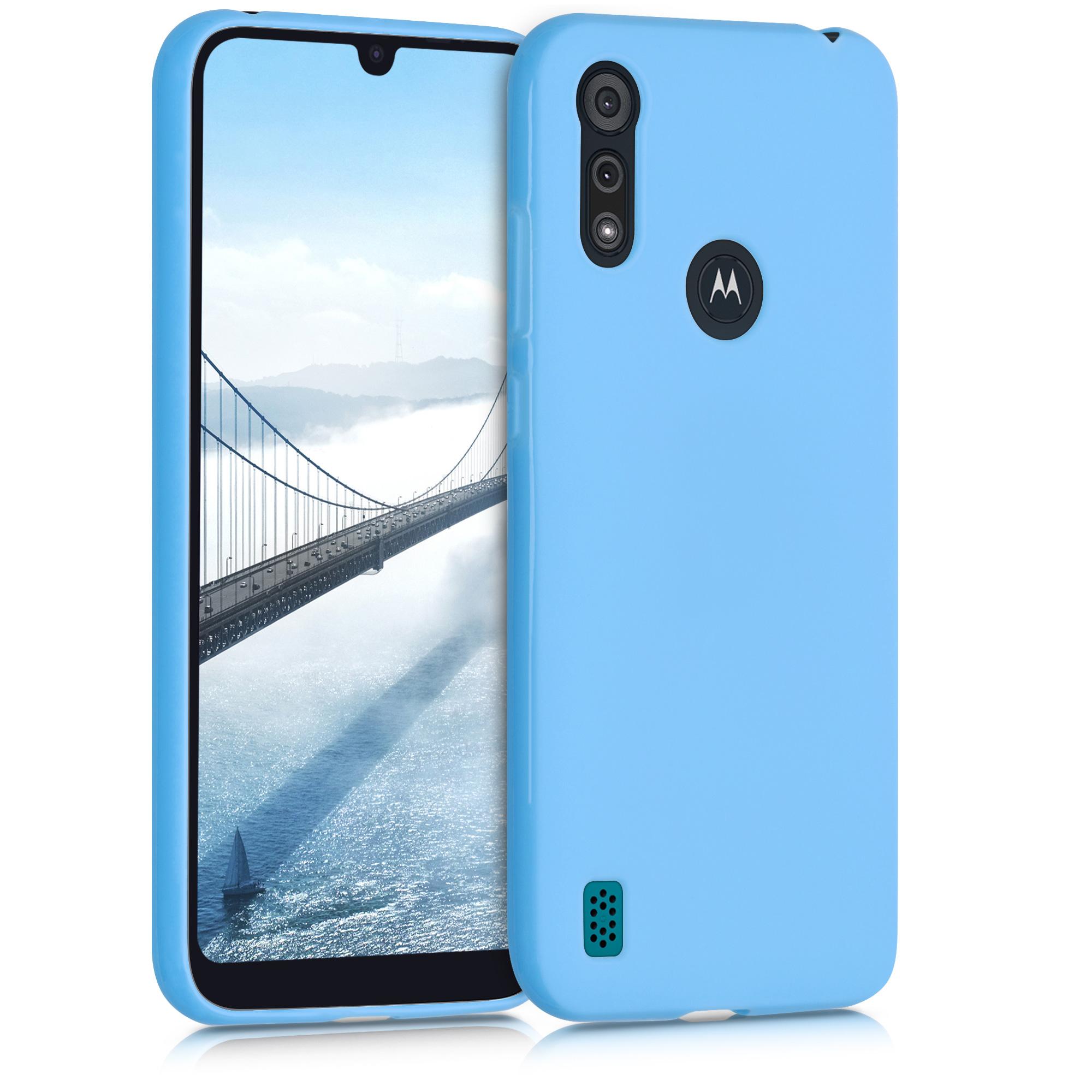 Kvalitní silikonové TPU pouzdro | obal pro Motorola Moto E6s - Světle modrá matná