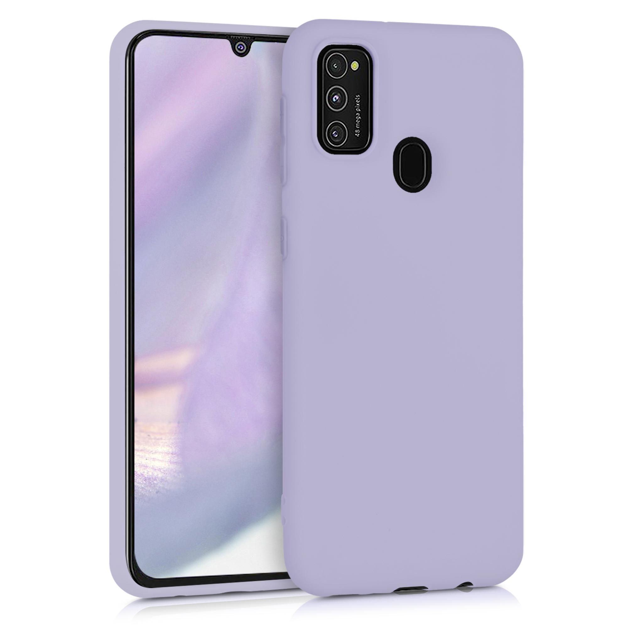 Kvalitní silikonové TPU pouzdro pro Samsung M21 - levandulové fialové