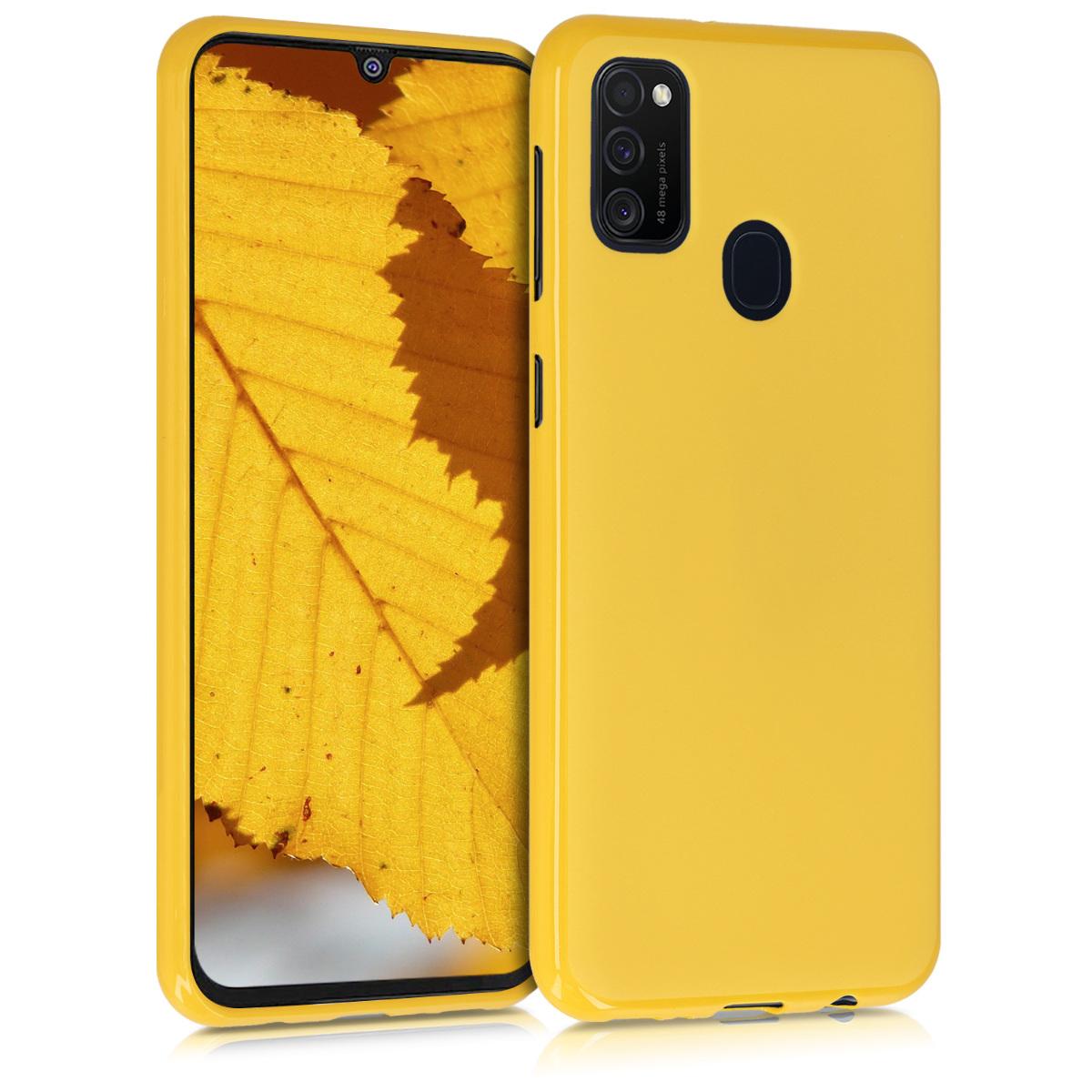Kvalitní silikonové TPU pouzdro pro Samsung M21 - Honey Yellow