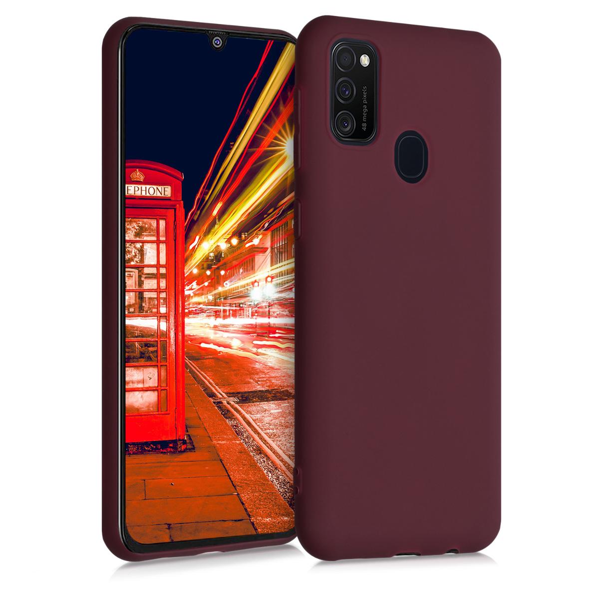 Kvalitní silikonové TPU pouzdro pro Samsung M21 - Tawny Red