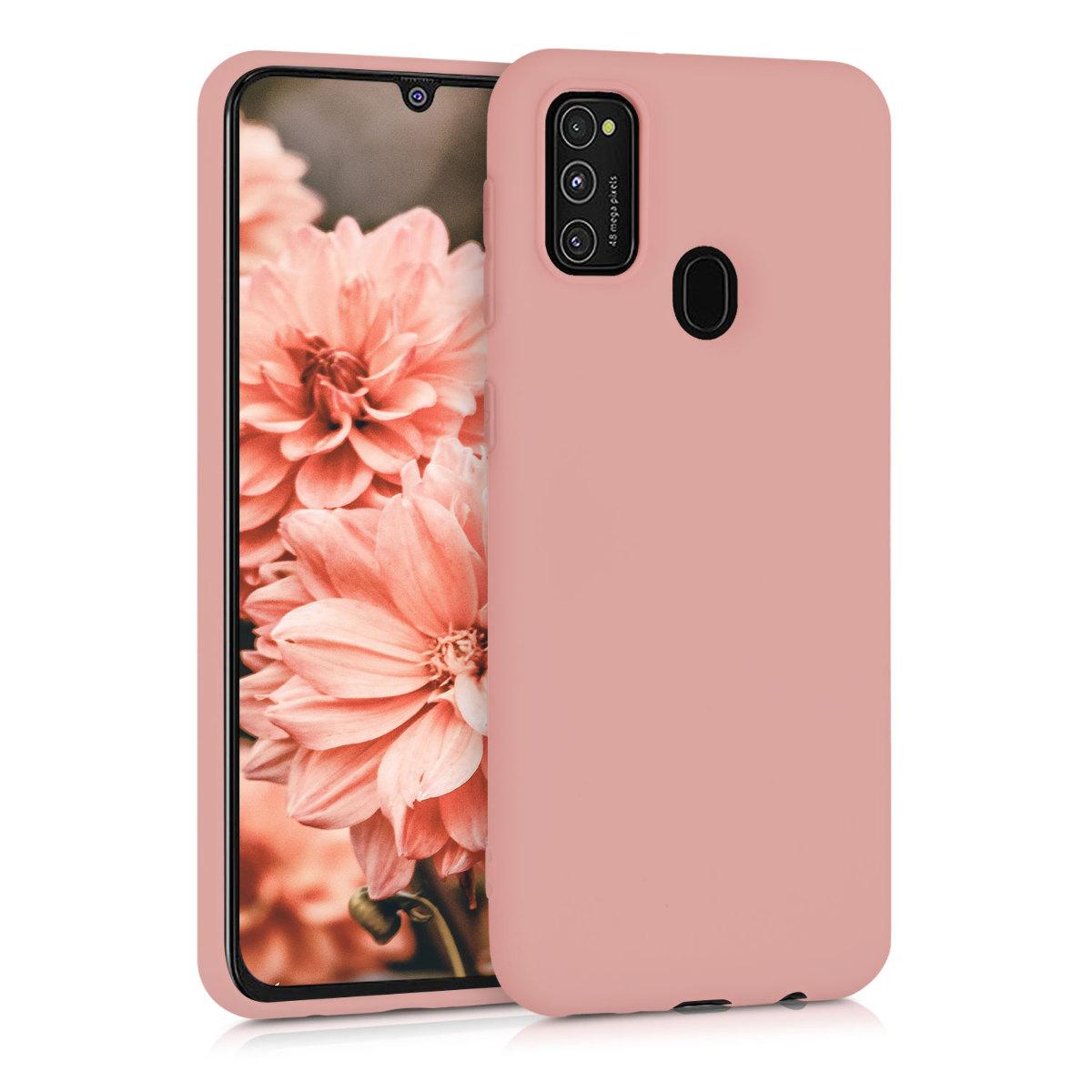 Kvalitní silikonové TPU pouzdro pro Samsung M21 - Rose Tan