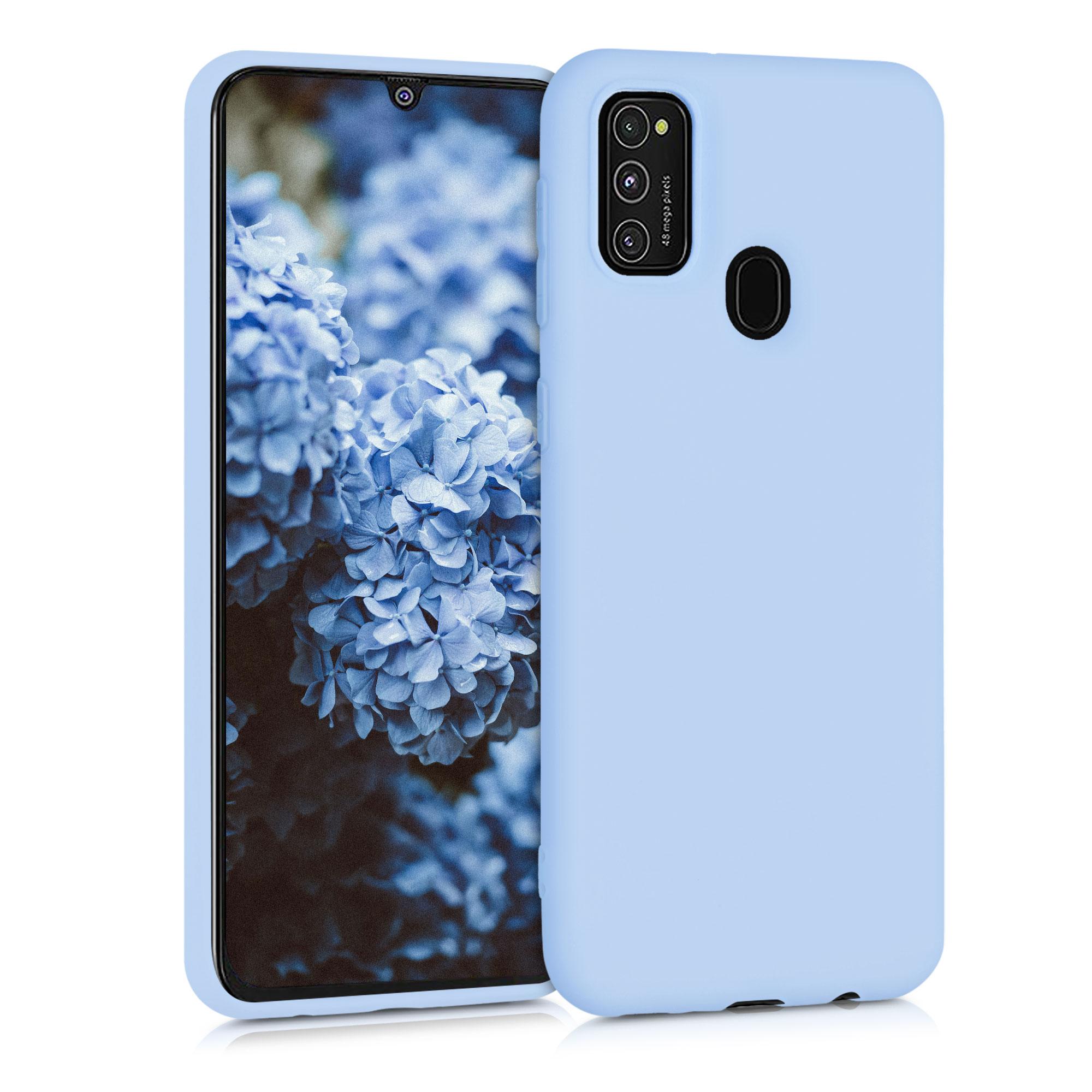 Kvalitní silikonové TPU pouzdro pro Samsung M21 - světle  modré matné