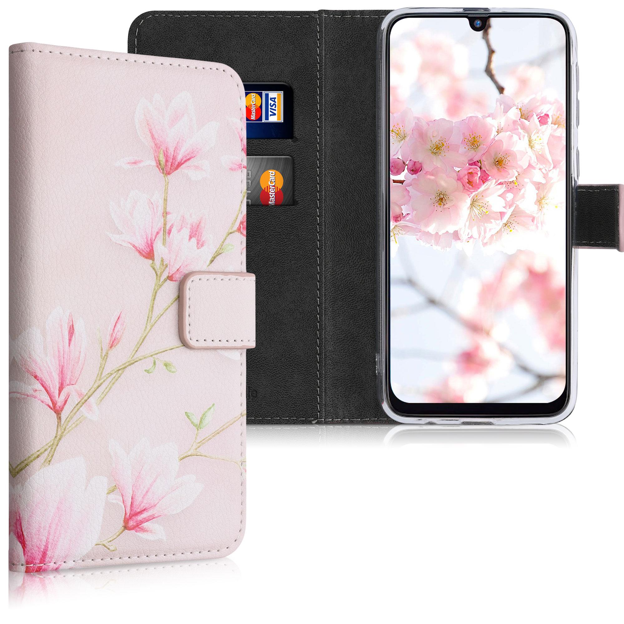 Kožené pouzdro pro Samsung M21 - Magnolie Pink / White / Pink Dusty