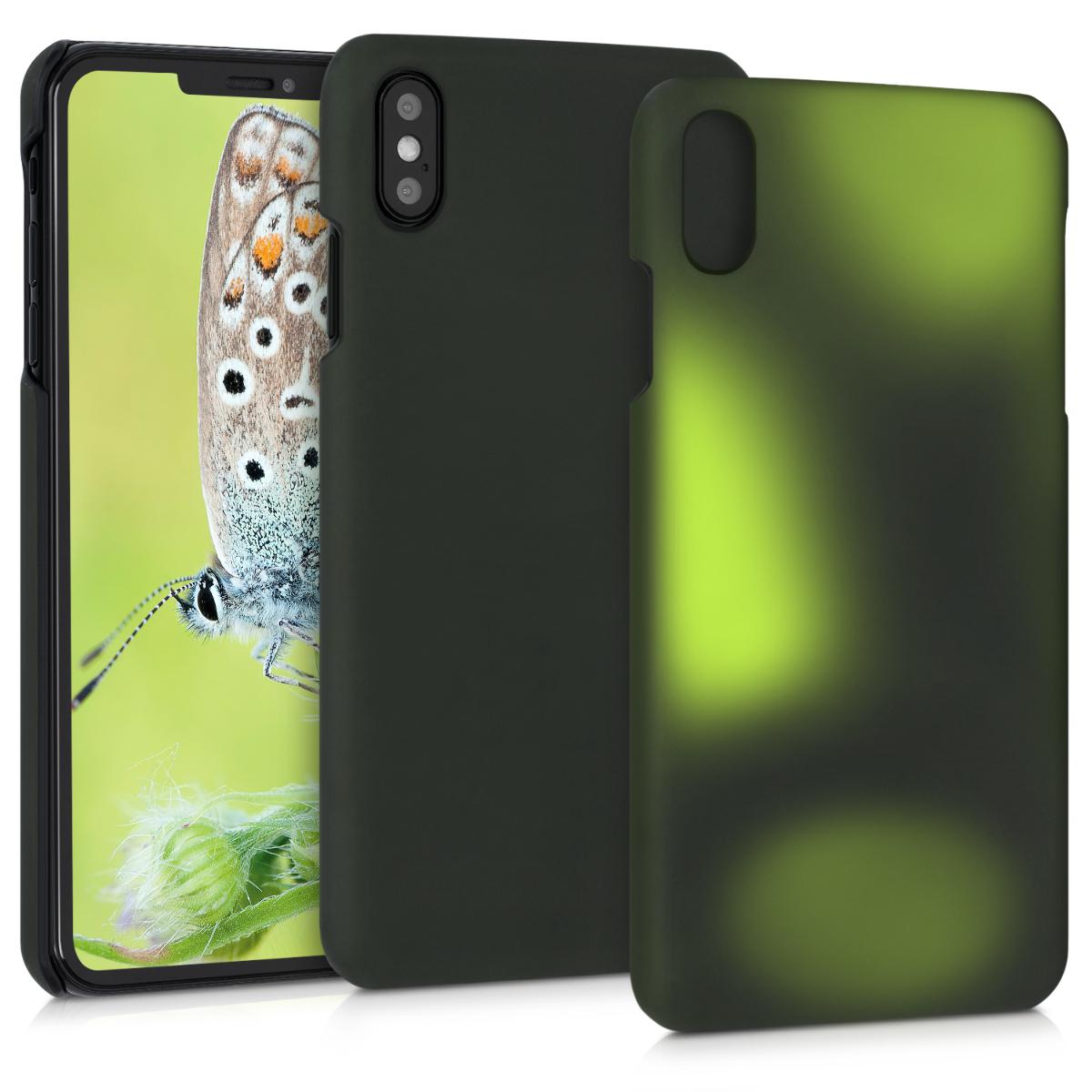 Kvalitní plastové pouzdro pro Apple iPhone XS Max - Black   Green