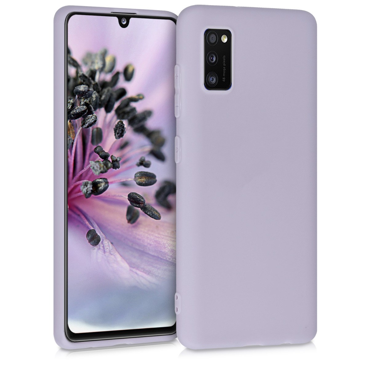 Kvalitní silikonové TPU pouzdro pro Samsung A41 - levandulové fialové