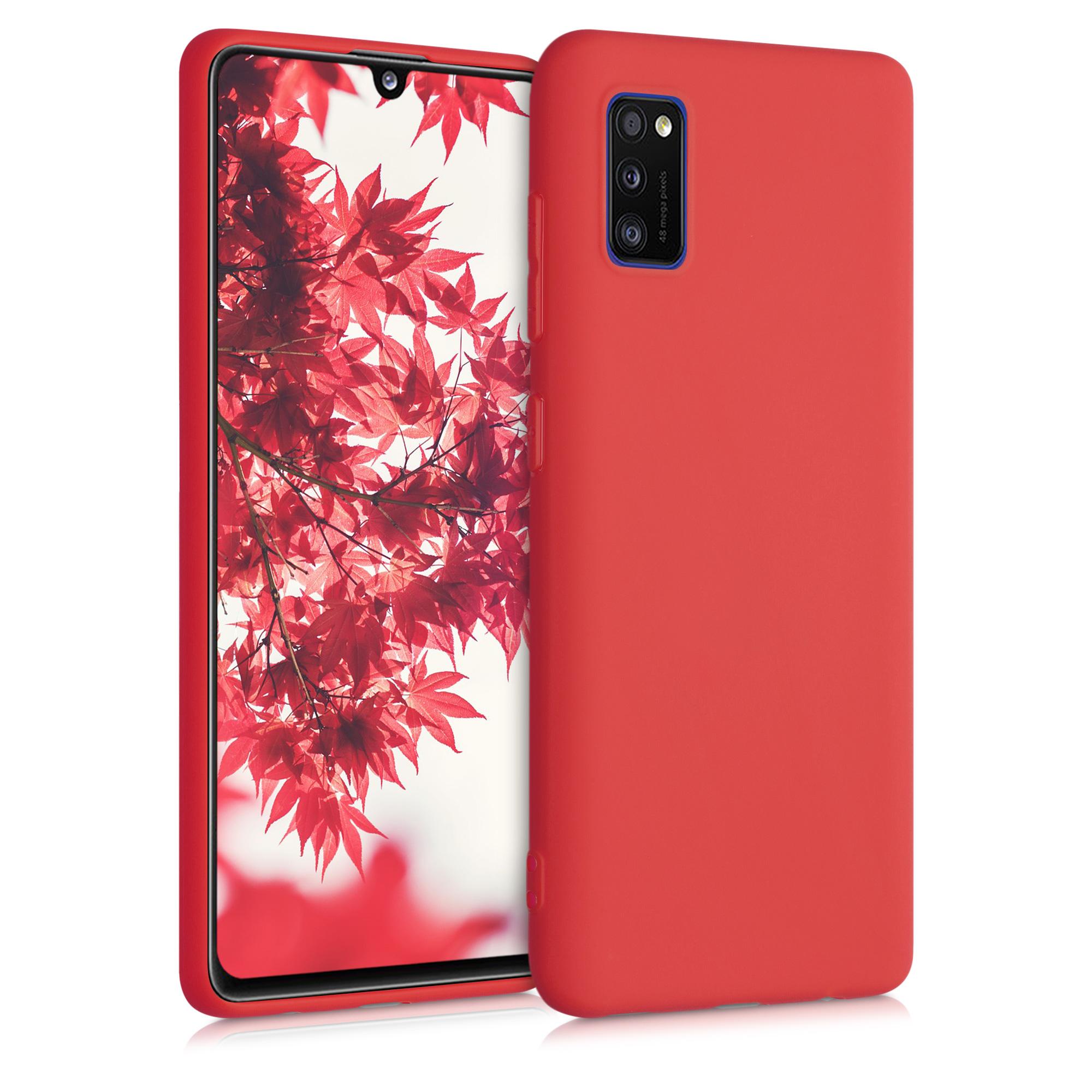 Kvalitní silikonové TPU pouzdro pro Samsung A41 - neonově červené