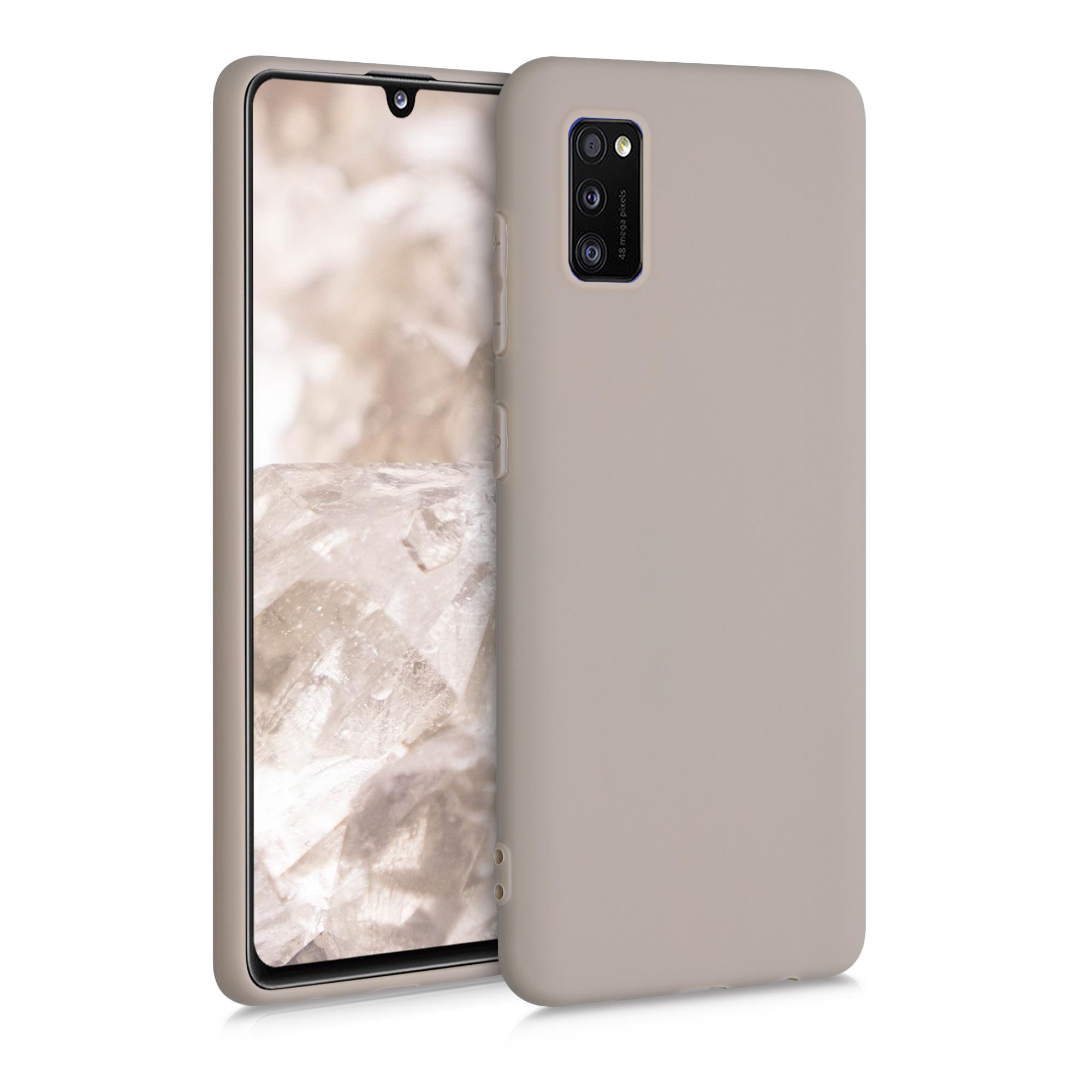 Kvalitní silikonové TPU pouzdro pro Samsung A41 - krémově matné