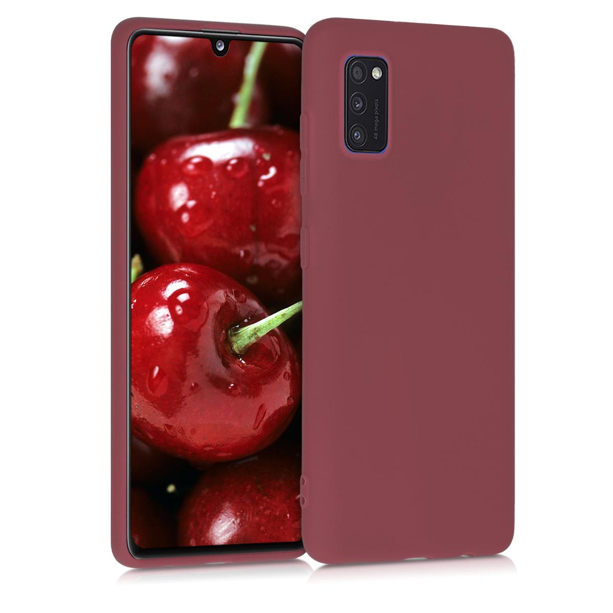 Kvalitní silikonové TPU pouzdro pro Samsung A41 - Maroon Red