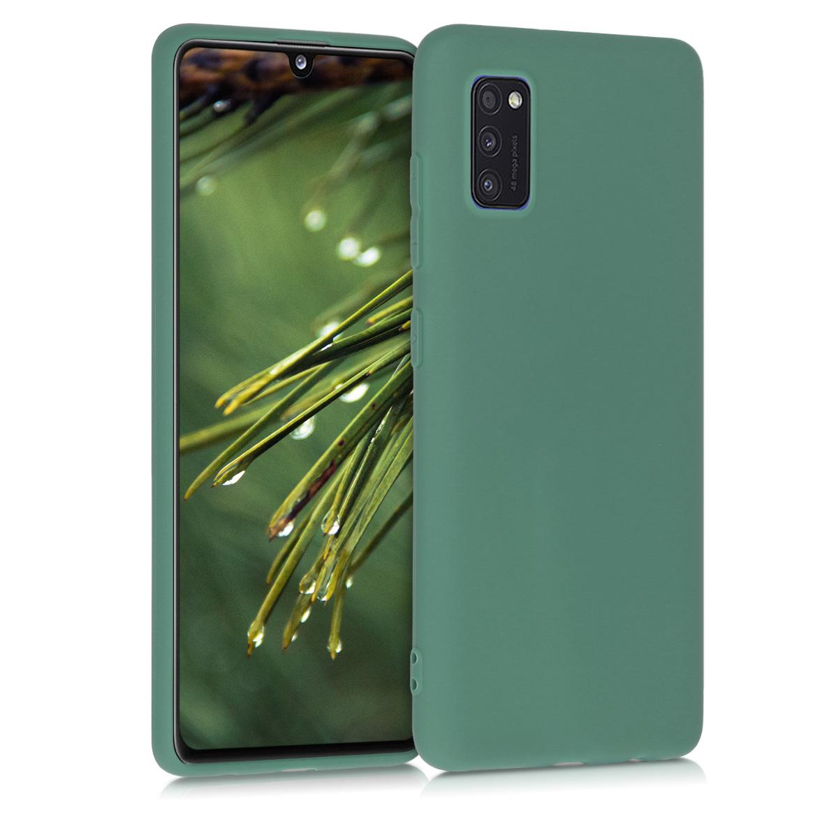 Kvalitní silikonové TPU pouzdro pro Samsung A41 - lesní zelené