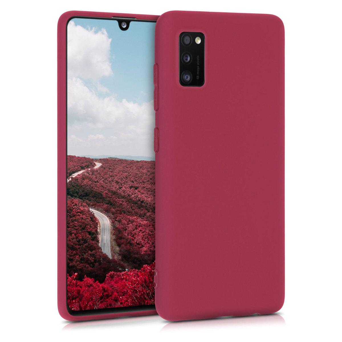 Kvalitní silikonové TPU pouzdro pro Samsung A41 - Pomegranate Red