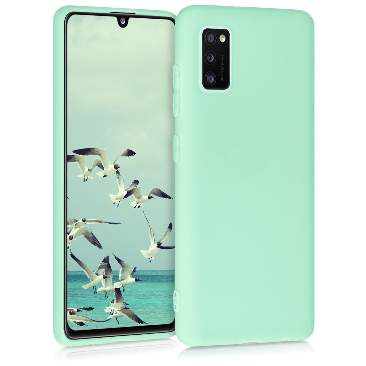 Kvalitní silikonové TPU pouzdro pro Samsung A41 - pastelové zelené