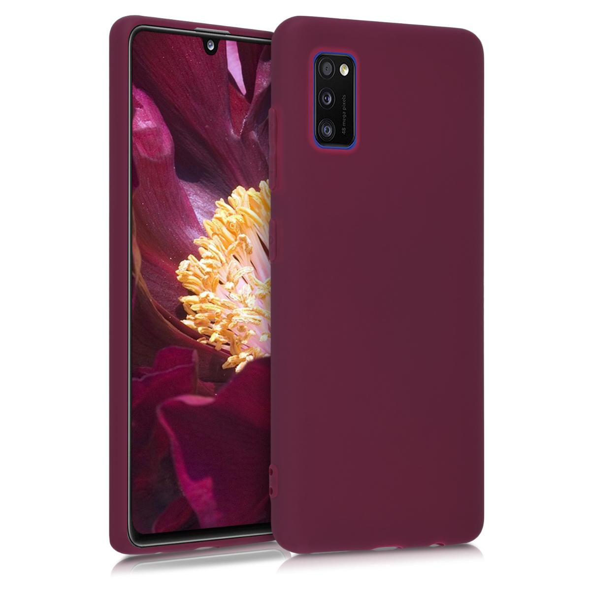 Kvalitní silikonové TPU pouzdro pro Samsung A41 - Bordeaux fialové