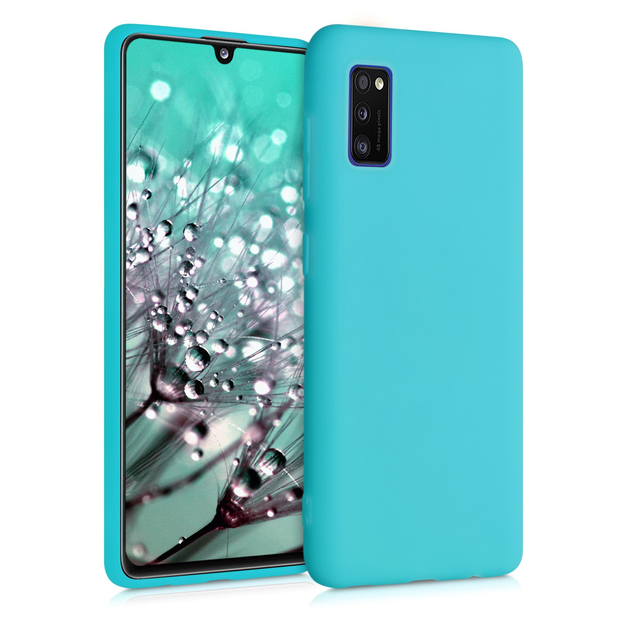 Kvalitní silikonové TPU pouzdro pro Samsung A41 - Ledová modř