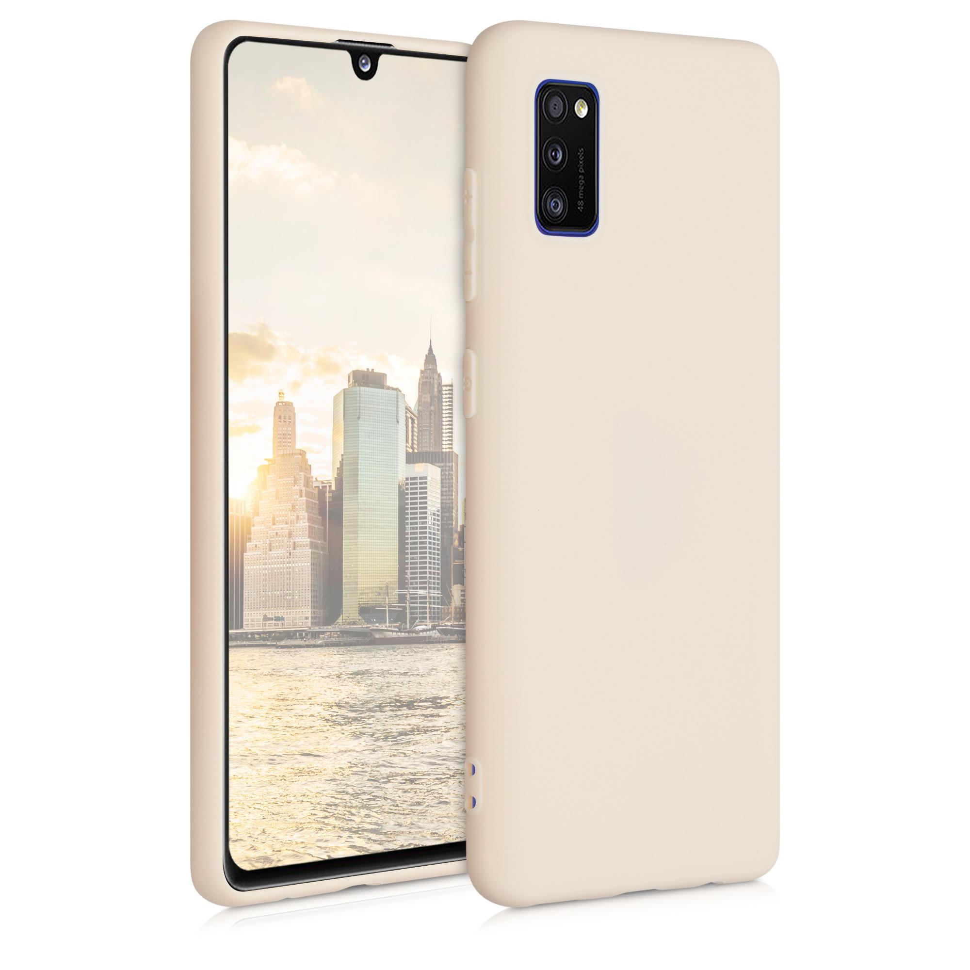 Kvalitní silikonové TPU pouzdro pro Samsung A41 - krémem