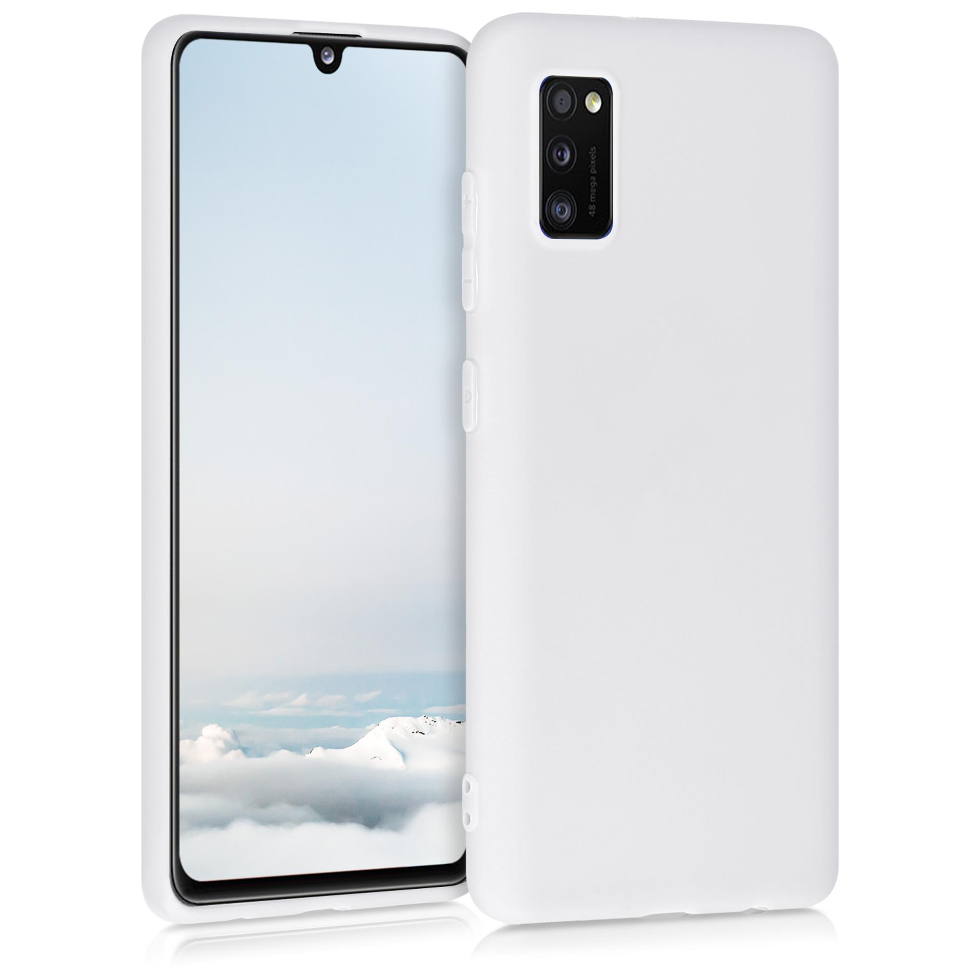 Kvalitní silikonové TPU pouzdro pro Samsung A41 - White Matte