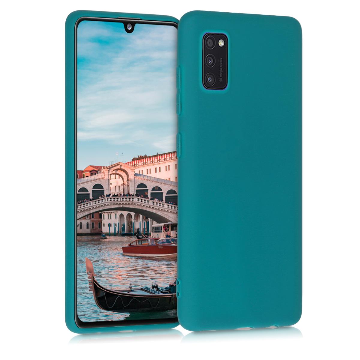 Kvalitní silikonové TPU pouzdro pro Samsung A41 - Teal matné