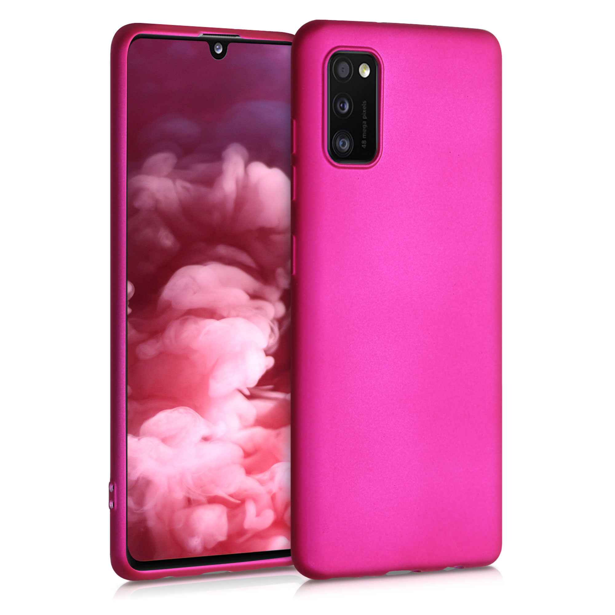 Kvalitní silikonové TPU pouzdro pro Samsung A41 - Metallic Pink
