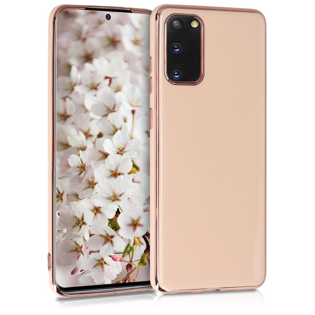 Lesklé rose gold pouzdro / obal pro Samsung S20