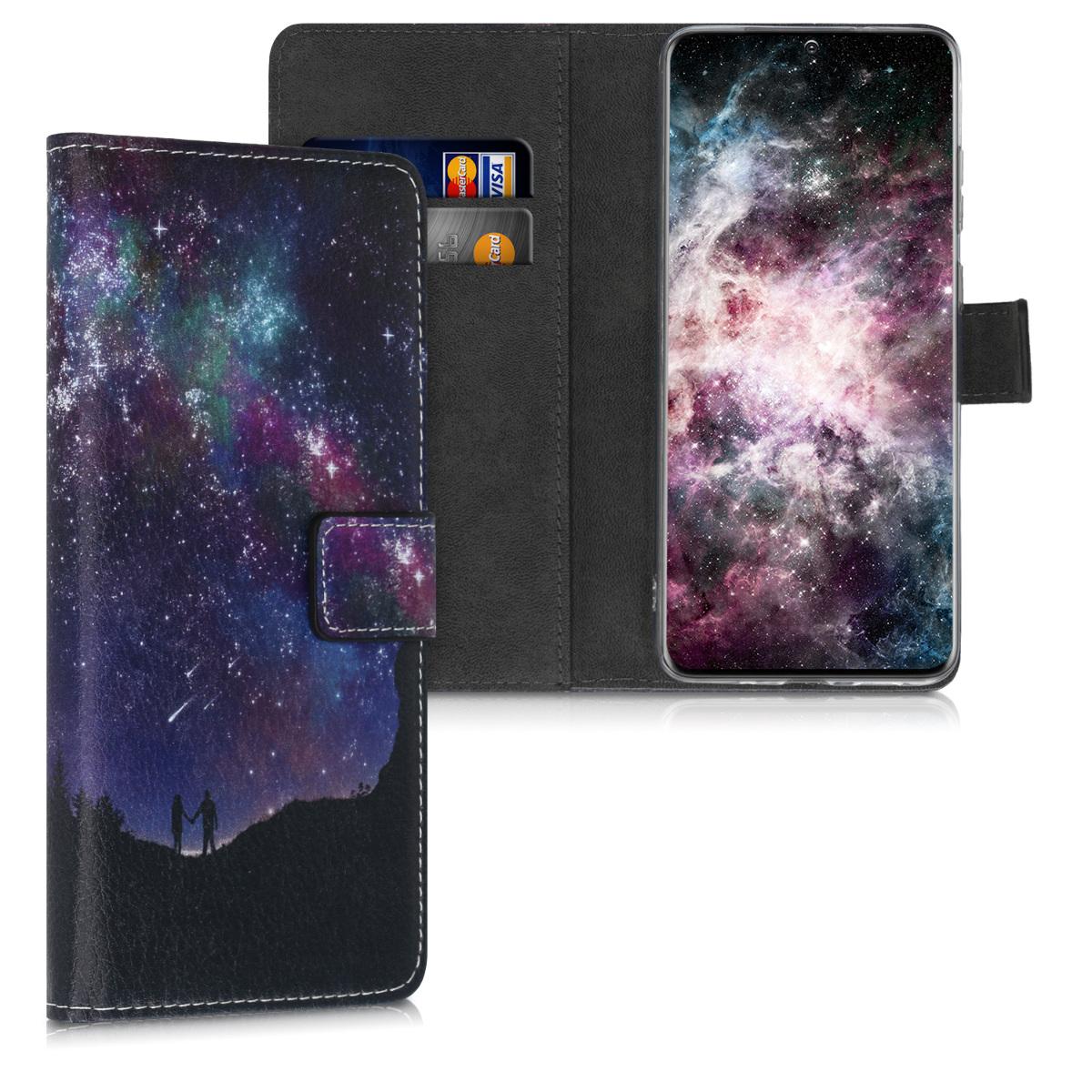 Peněženkové pouzdro / obal s vesmírnou oblohou pro Samsung S20 Plus